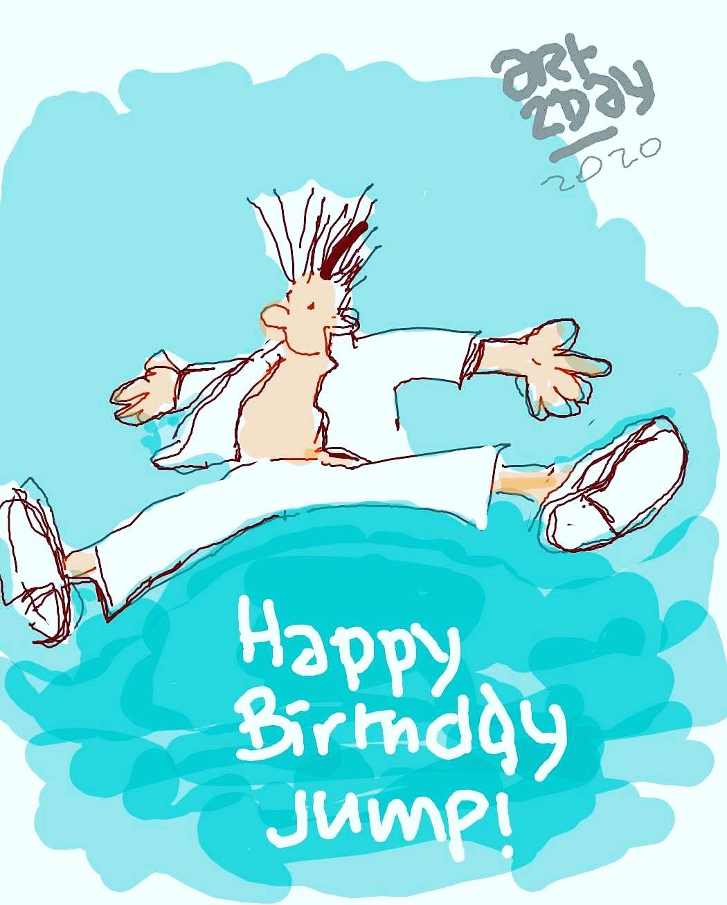 happy birthday jump