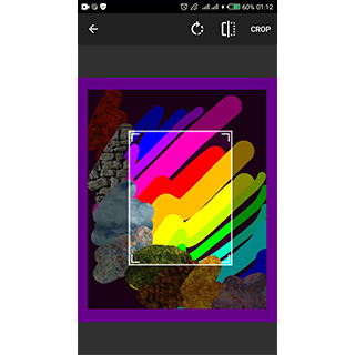 new crop tool - select from camera or gallery